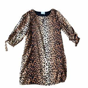 Everly Leopard Cheetah Animal Print Dress Small